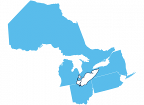 States Bordering Lake Erie